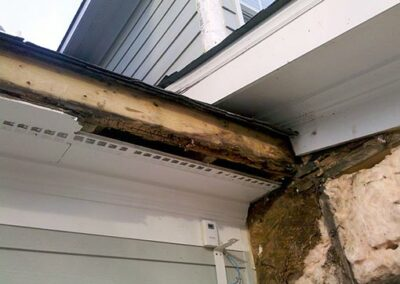 Wood Rot Damage from Leaky Roof